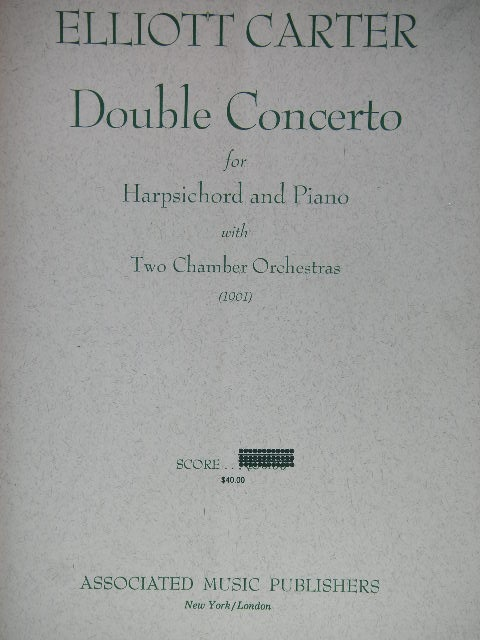 Image for Double Concerto for Harpsichord and Piano with Two chamber Orchestras