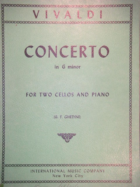 Image for Concerto in G minor for Two Cellos