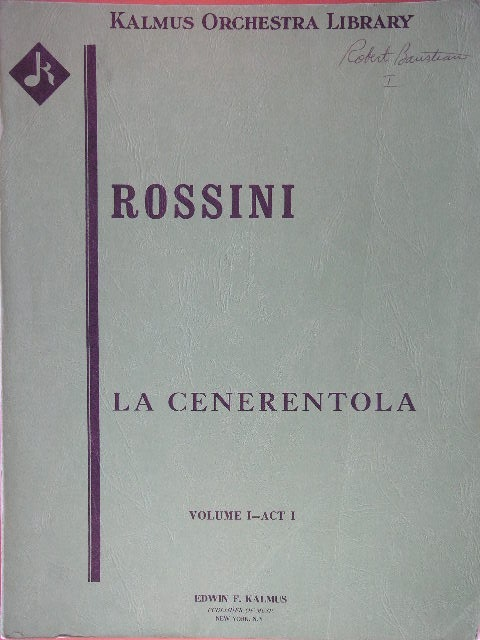 Image for La Cenerentola (3 Volumes)
