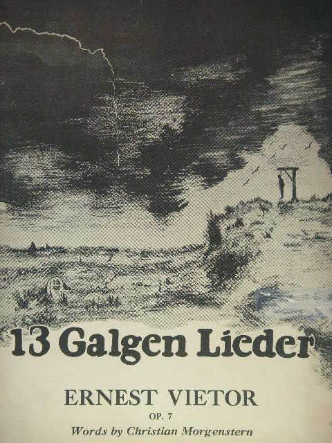 Image for 13 Galgen Lieder Op. 7