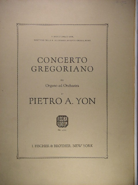 Image for Concerto Gregoriano for Organ/Orchestra