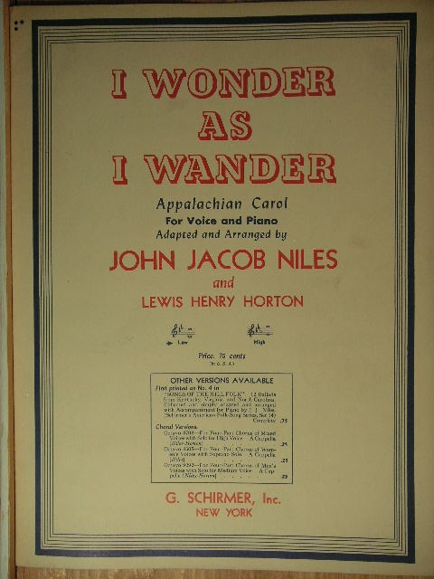 Image for I Wonder as I Wander