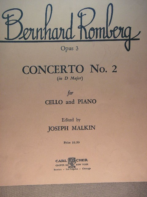 Image for Concerto No. 2 for Cello and Piano Op. 3
