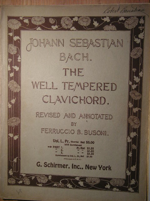 Image for The Well-Tempered Clavichord Vol. 1