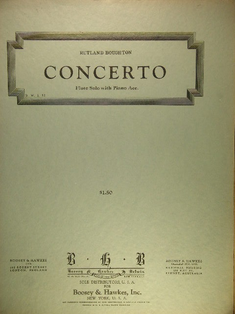 Image for Concerto for Flute and Strings