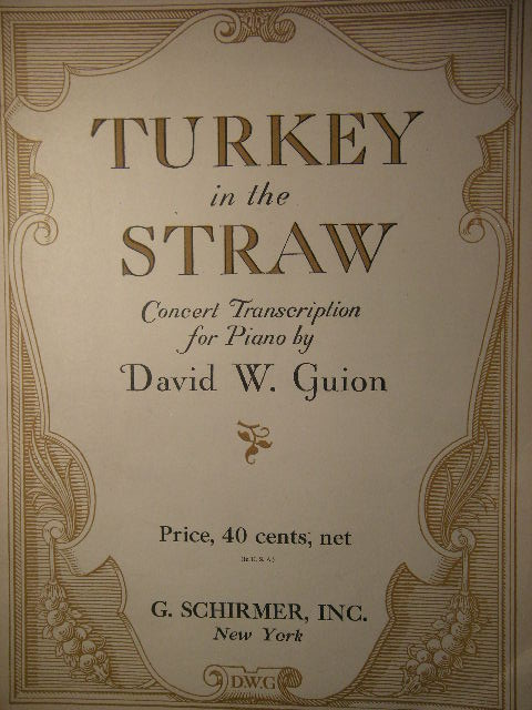 Image for Turkey in the Straw Concert Transcription