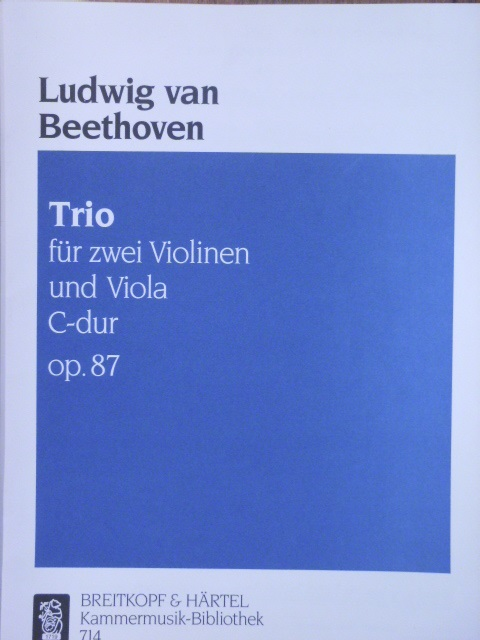 Image for Trio in C major Op. 87