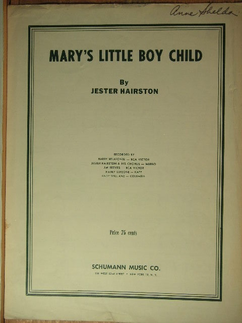Image for Mary's Little Boy Child